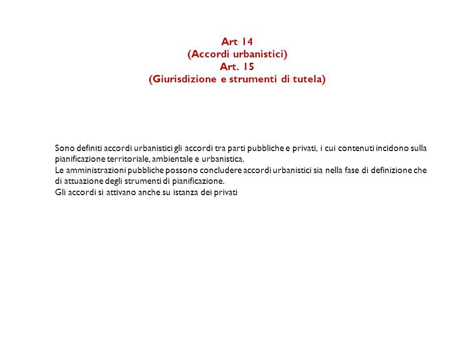 Art 14 (Accordi urbanistici) Art.