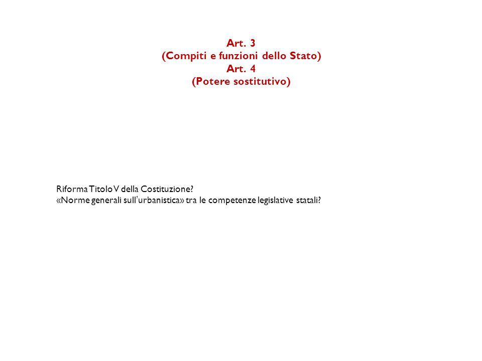Art.3 (Compiti e funzioni dello Stato) Art.
