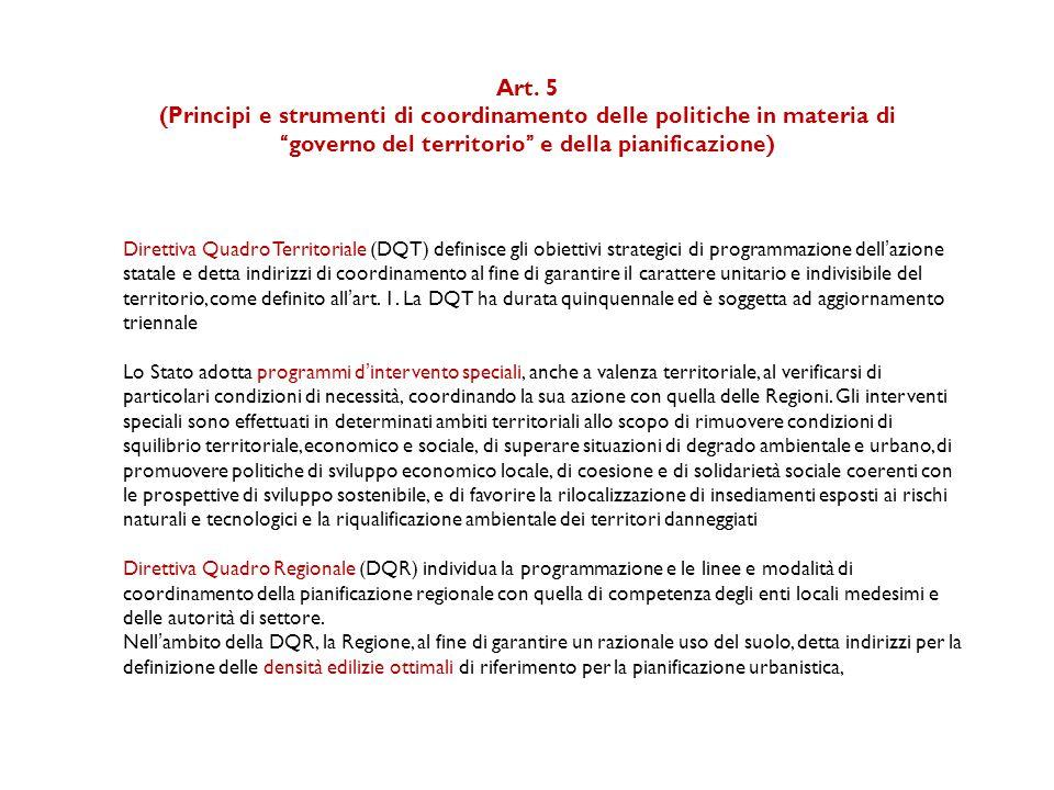 Legge quadro in materia di valorizzazione delle aree agricole e di contenimento del consumo del suolo (Disegno di legge) ART.
