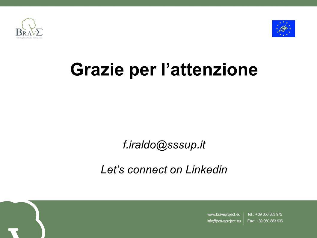 Grazie per l'attenzione f.iraldo@sssup.it Let's connect on Linkedin