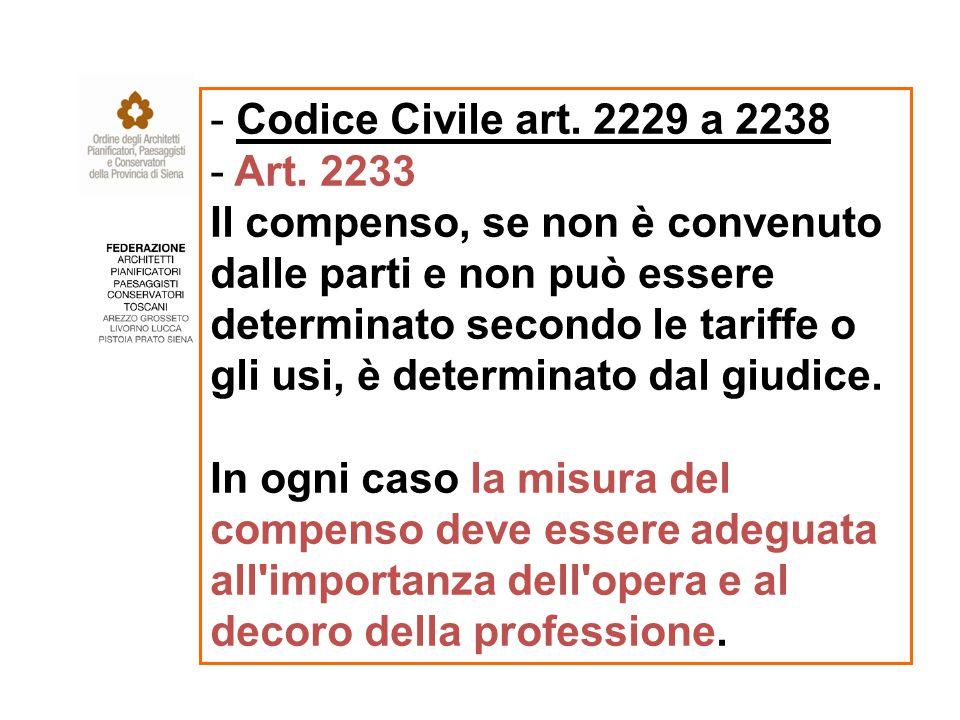 - Codice Civile art. 2229 a 2238 - Art.