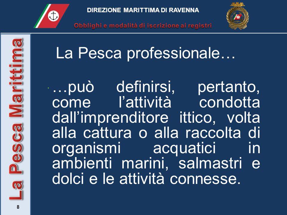 9 L'imprenditore ittico…  …è definito (ai sensi dell'art.4 D.Lgs.4/2012) come il titolare della licenza di pesca.