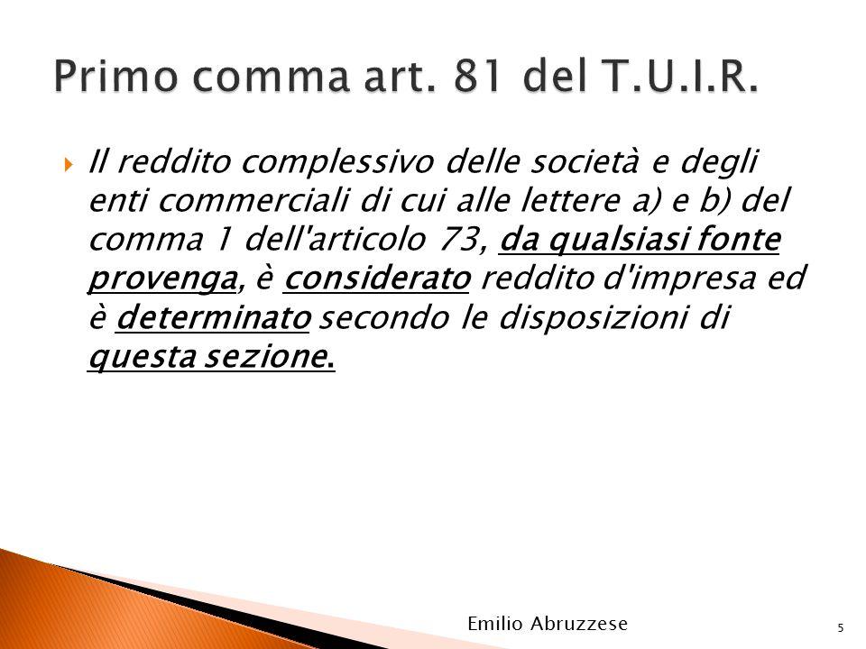  Il reddito complessivo delle società e degli enti commerciali di cui alle lettere a) e b) del comma 1 dell'articolo 73, da qualsiasi fonte provenga,