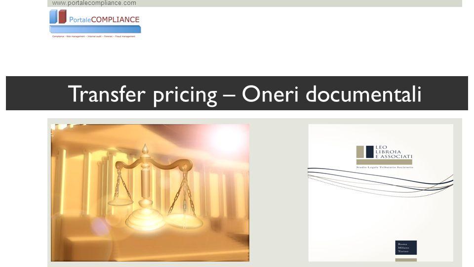 www.portalecompliance.com Transfer pricing – Oneri documentali