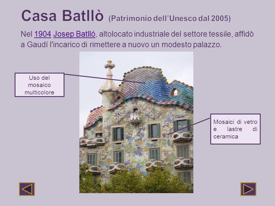 Nel 1904 Josep Batlló, altolocato industriale del settore tessile, affidò1904Josep Batlló a Gaudí l'incarico di rimettere a nuovo un modesto palazzo.