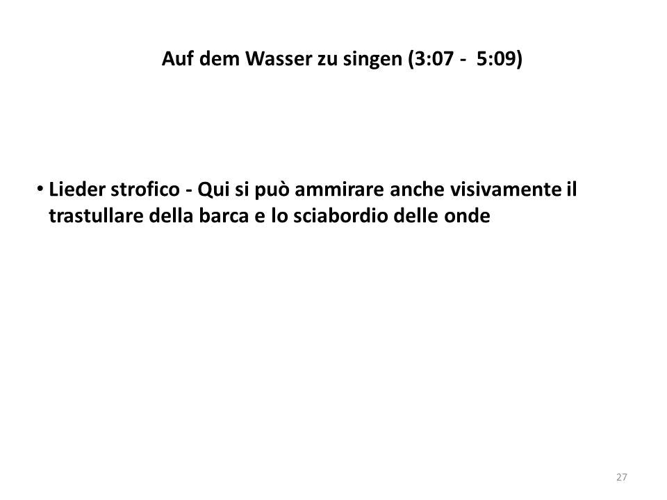 Lieder strofico - Qui si può ammirare anche visivamente il trastullare della barca e lo sciabordio delle onde Auf dem Wasser zu singen (3:07 - 5:09) 2