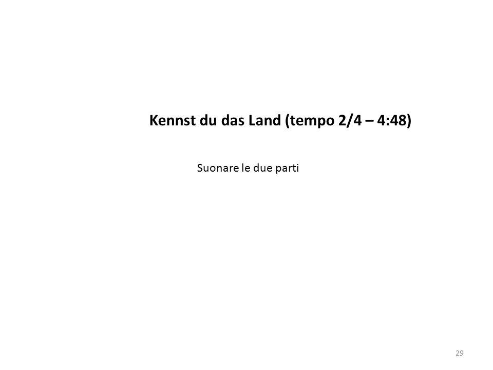 Kennst du das Land (tempo 2/4 – 4:48) 29 Suonare le due parti