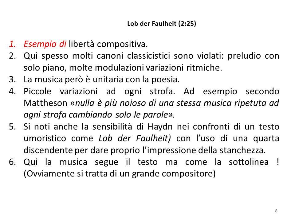 8 1.Esempio di libertà compositiva. 2.Qui spesso molti canoni classicistici sono violati: preludio con solo piano, molte modulazioni variazioni ritmic