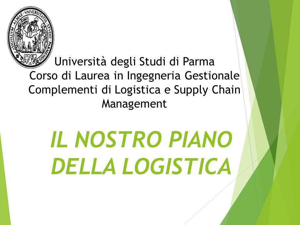 IL NOSTRO PIANO DELLA LOGISTICA Università degli Studi di Parma Corso di Laurea in Ingegneria Gestionale Complementi di Logistica e Supply Chain Management