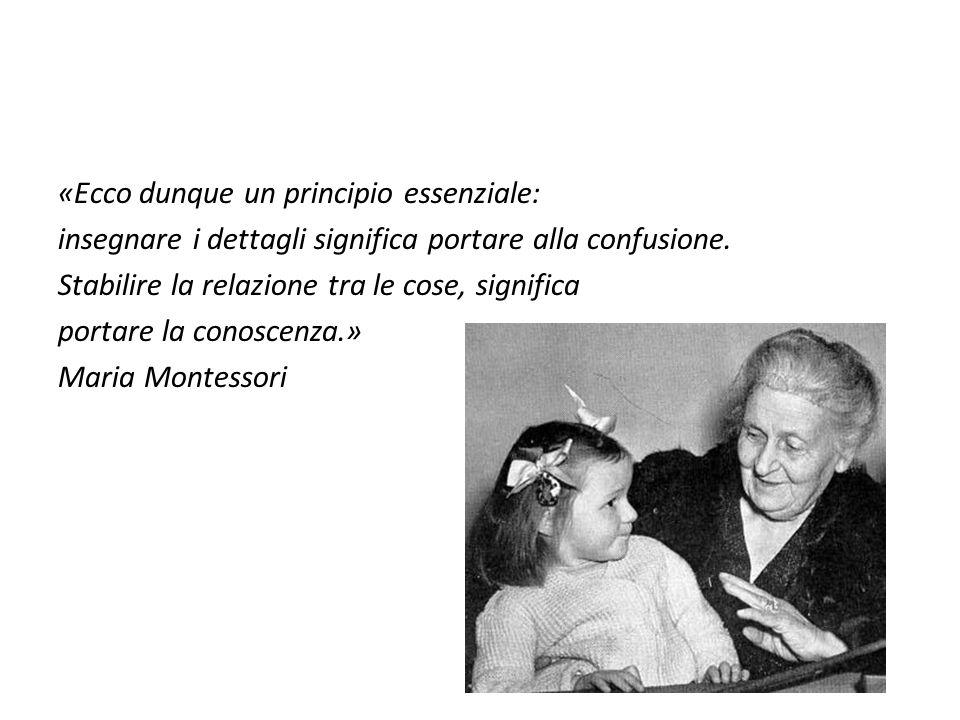 «Ecco dunque un principio essenziale: insegnare i dettagli significa portare alla confusione.