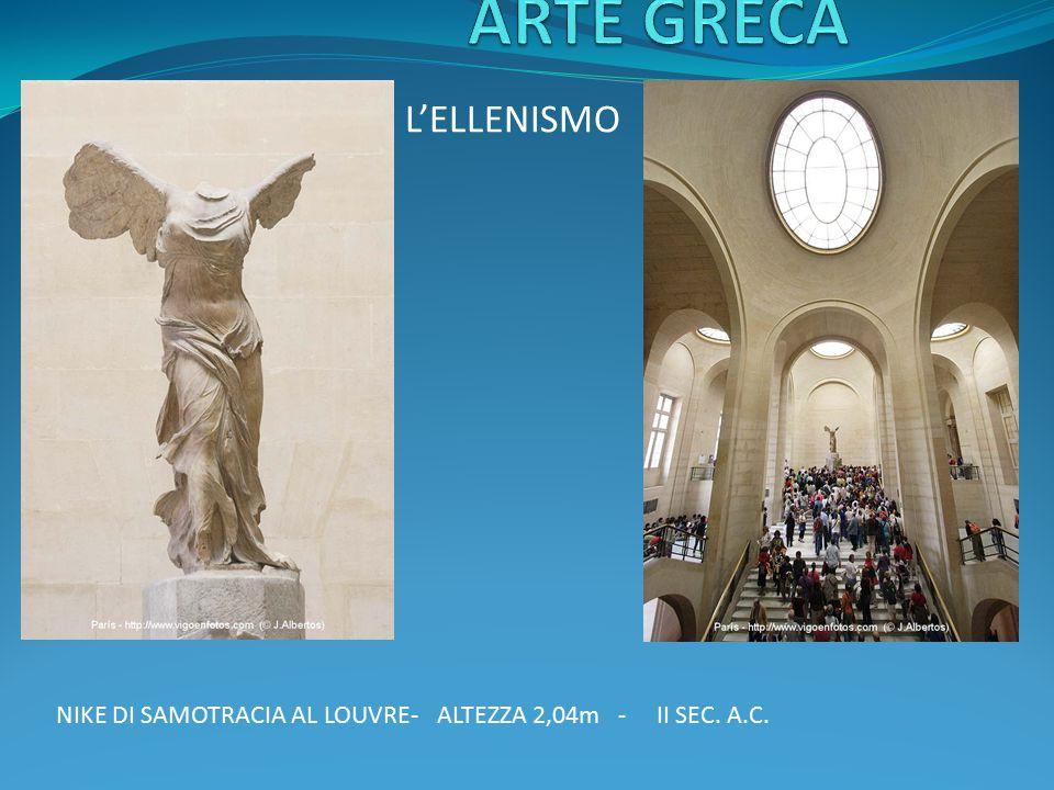 L'ELLENISMO NIKE DI SAMOTRACIA AL LOUVRE- ALTEZZA 2,04m - II SEC. A.C.