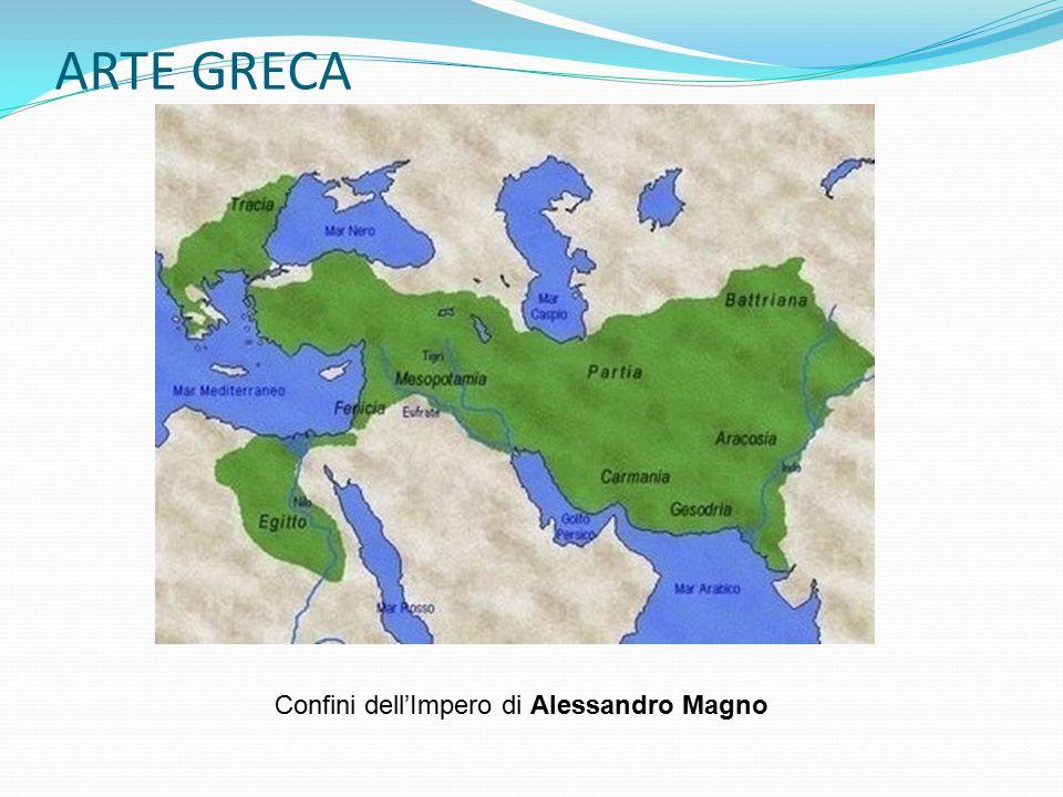 ARTE GRECA Confini dell'Impero di Alessandro Magno