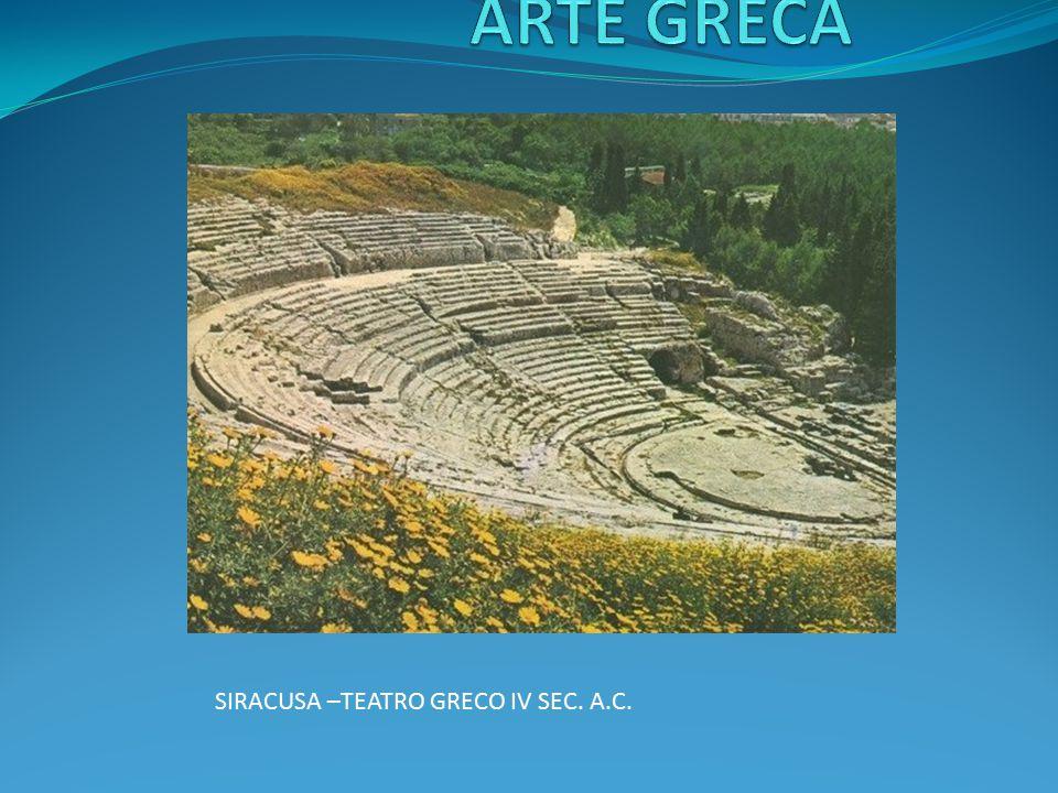 SIRACUSA –TEATRO GRECO IV SEC. A.C.
