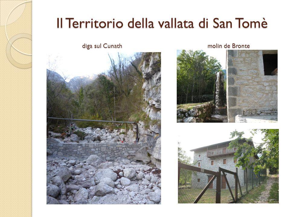 diga sul Cunath molin de Bronte Il Territorio della vallata di San Tomè