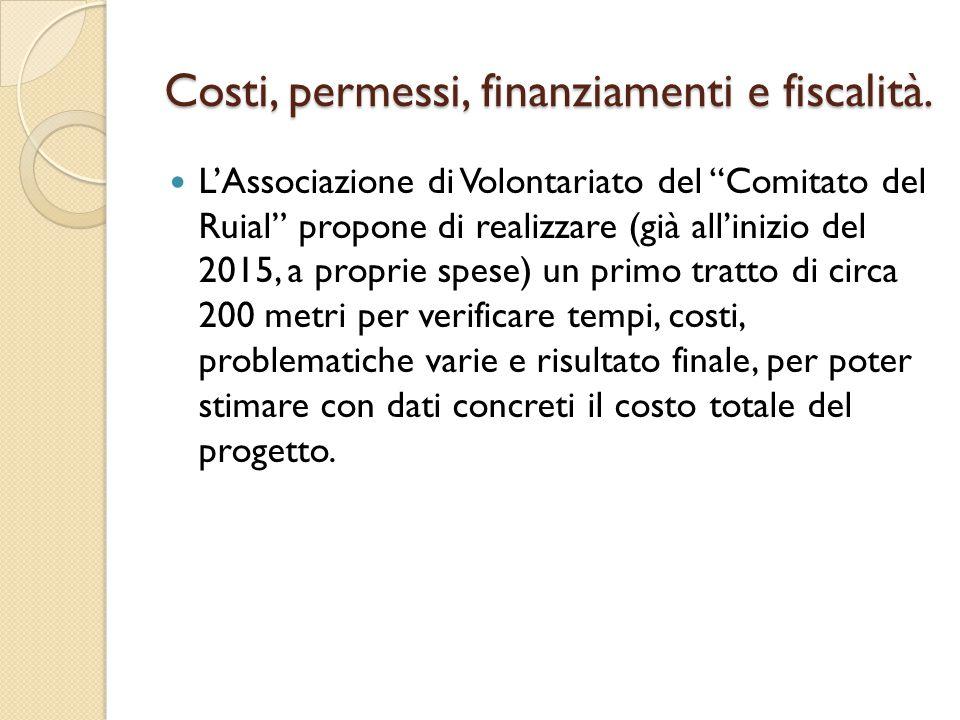 """L'Associazione di Volontariato del """"Comitato del Ruial"""" propone di realizzare (già all'inizio del 2015, a proprie spese) un primo tratto di circa 200"""