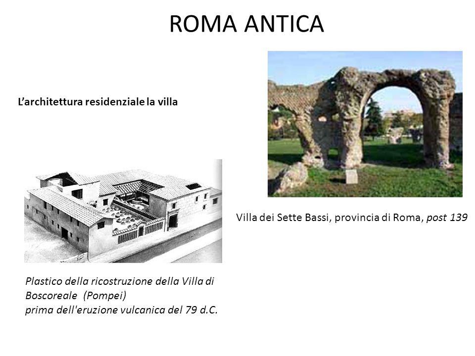 ROMA ANTICA L'architettura residenziale la villa Villa dei Sette Bassi, provincia di Roma, post 139 Plastico della ricostruzione della Villa di Boscor