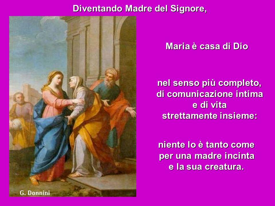 Anche l'Angelo per spiegare a Maria che diventerà dimora di Dio, userà questo richiamo: Su di te stenderà la sua ombra la potenza dell'Altissimo.