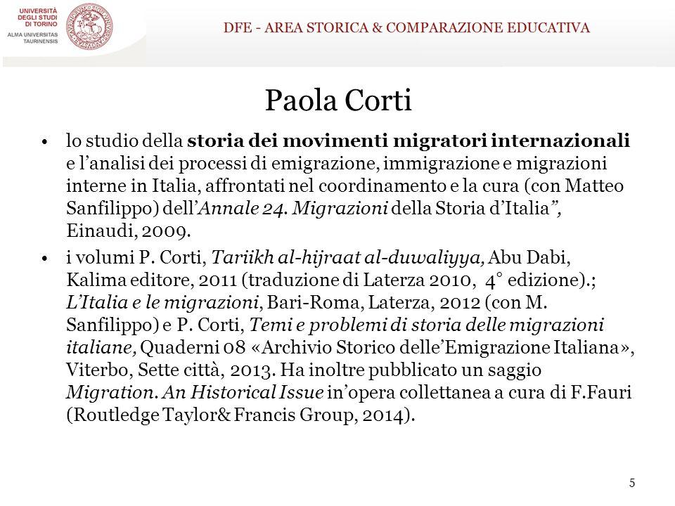 Paola Corti lo studio della storia dei movimenti migratori internazionali e l'analisi dei processi di emigrazione, immigrazione e migrazioni interne i