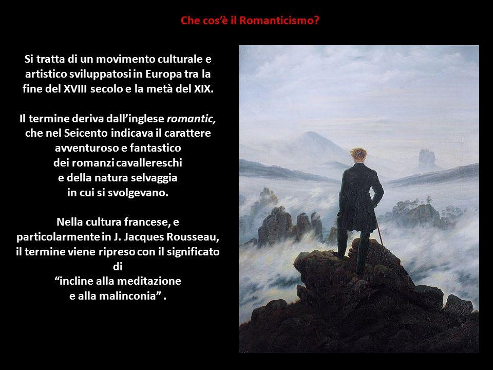 Che cos'è il Romanticismo? Si tratta di un movimento culturale e artistico sviluppatosi in Europa tra la fine del XVIII secolo e la metà del XIX. Il t