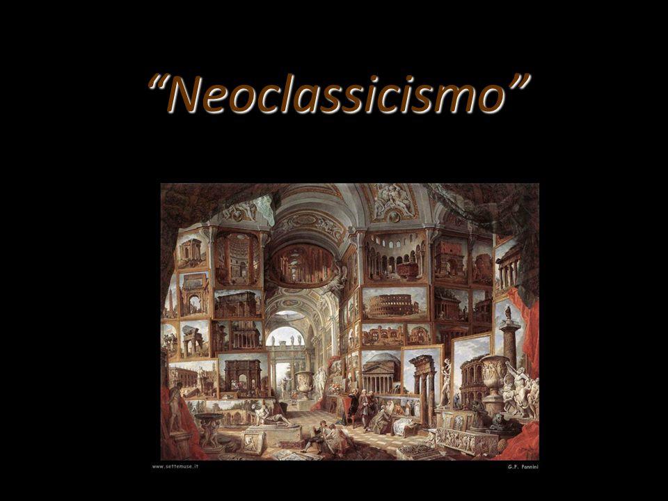 Il neoclassicismo ( nuovo classicismo) si ispira al mondo classico, cioè ai modelli dell'arte greco – romana come ideale di bellezza assoluta e di perfezione.