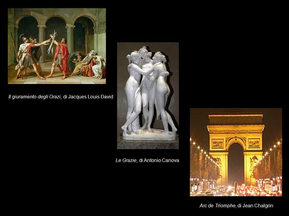 Il giuramento degli Orazi, di Jacques Louis David Le Grazie, di Antonio Canova Arc de Triomphe, di Jean Chalgrin