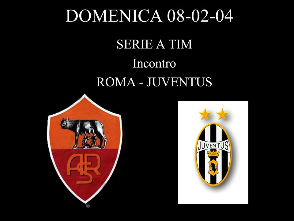 DOMENICA 08-02-04 SERIE A TIM Incontro ROMA - JUVENTUS