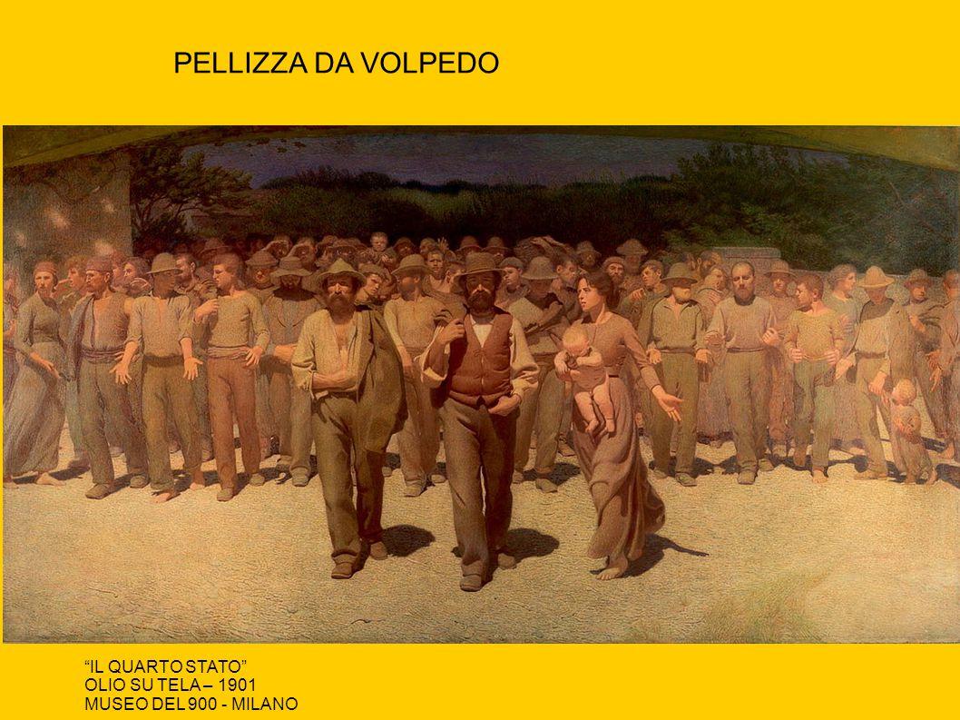 """PELLIZZA DA VOLPEDO """"IL QUARTO STATO"""" OLIO SU TELA – 1901 MUSEO DEL 900 - MILANO"""