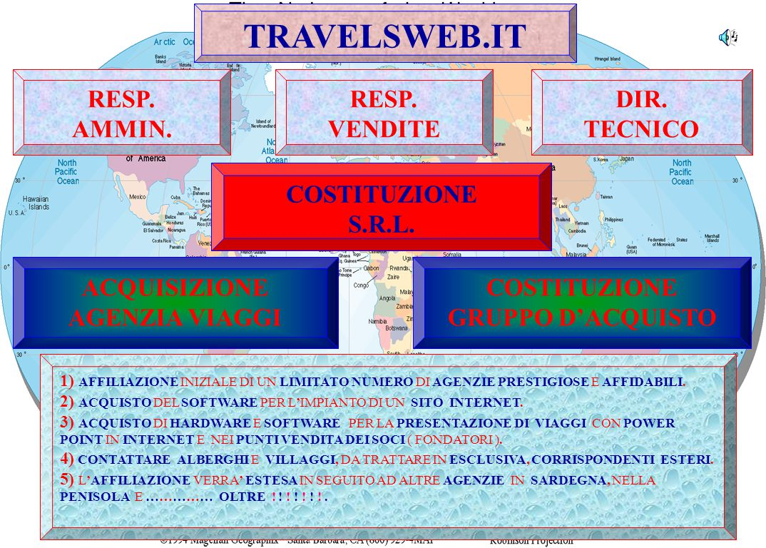 TRAVELSWEB.COM ITALYSPACE.COM TRAVEL NEWS BORSA WETHER N.GROUP IMPORTEXPORT 1) COSTITUZIONE DI UNA SOCIETA' PER LA PREPARAZIONE DI UN PORTALE.