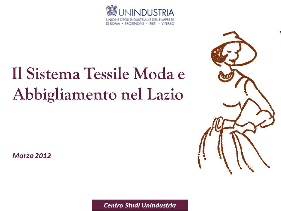 1 Marzo 2012 Centro Studi Unindustria Il Sistema Tessile Moda e Abbigliamento nel Lazio