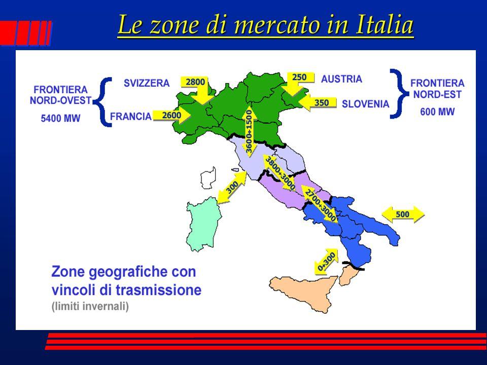 Le zone di mercato in Italia
