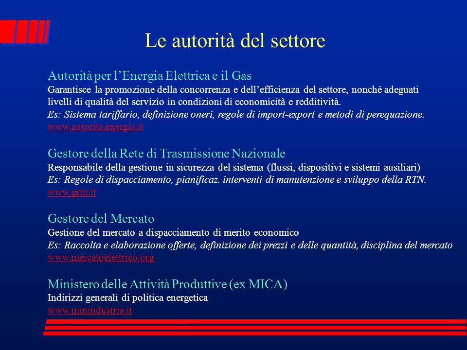 Autorità per l'Energia Elettrica e il Gas Garantisce la promozione della concorrenza e dell'efficienza del settore, nonché adeguati livelli di qualità