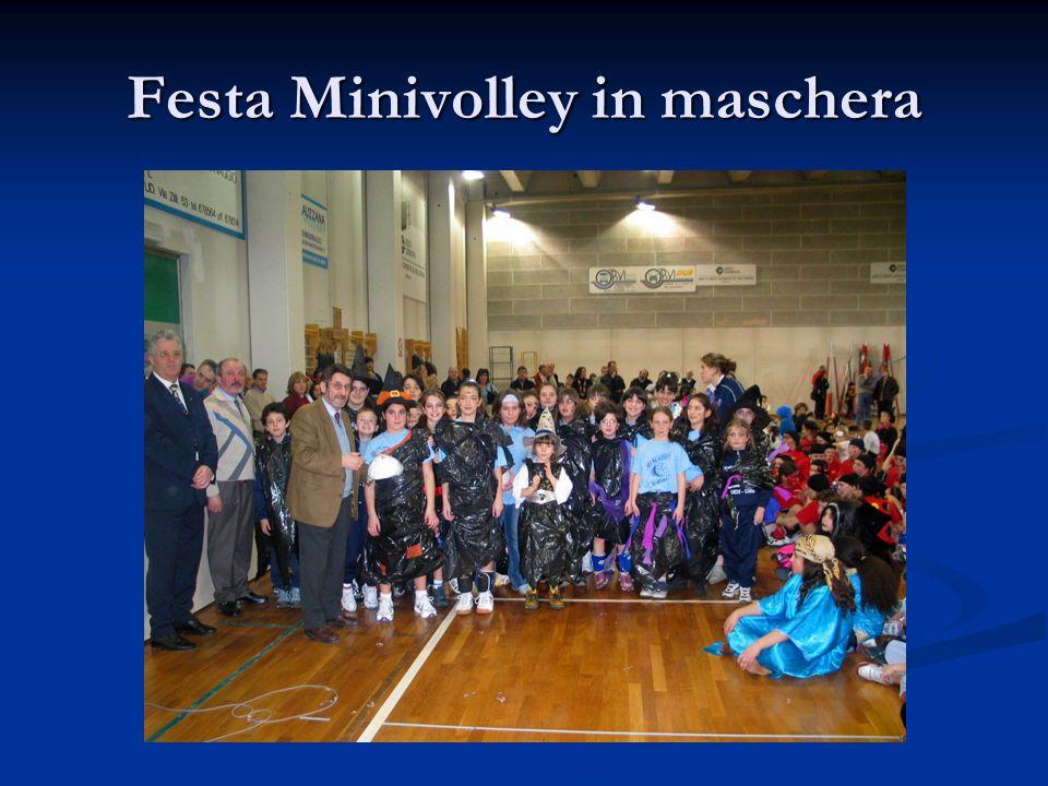 Festa Minivolley in maschera