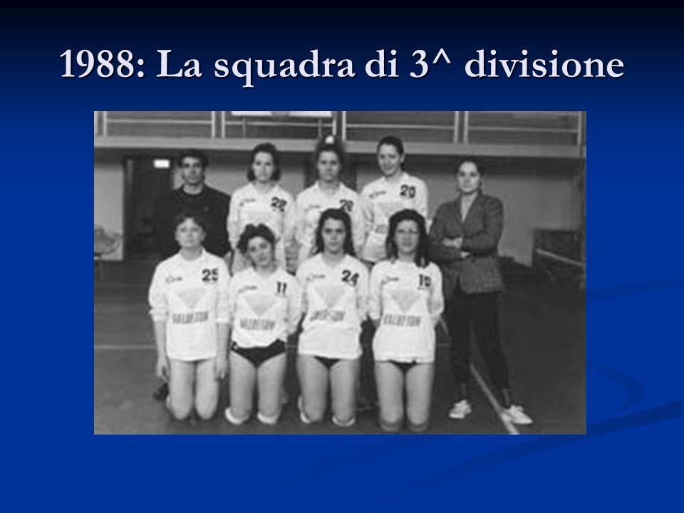 1988: La squadra di 3^ divisione