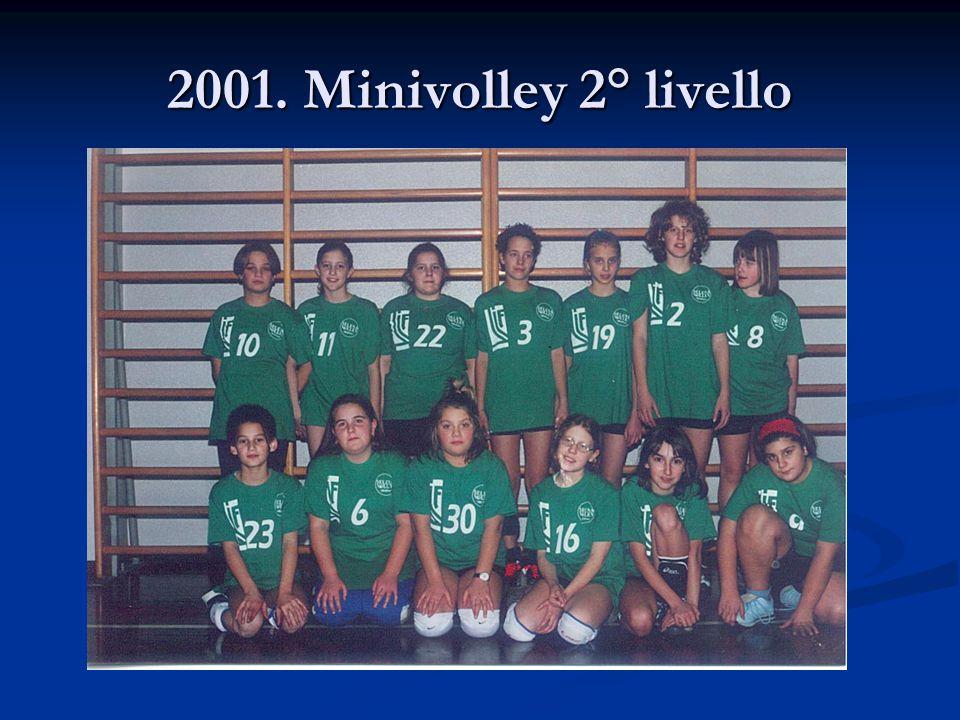2001. Minivolley 2° livello