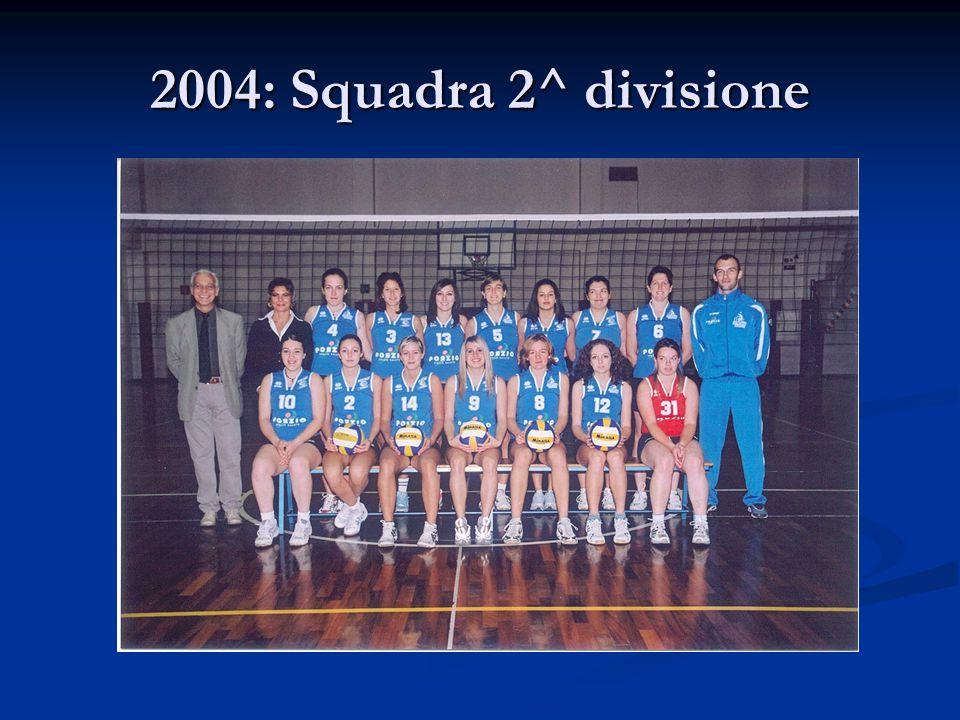 2004: Squadra 2^ divisione