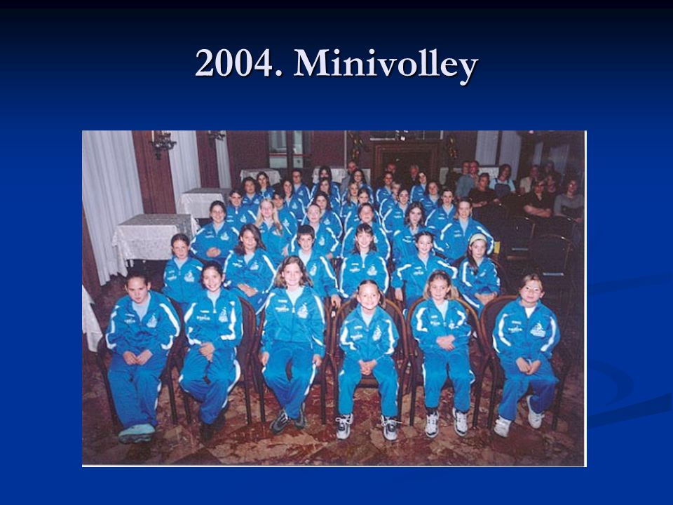 2004. Minivolley