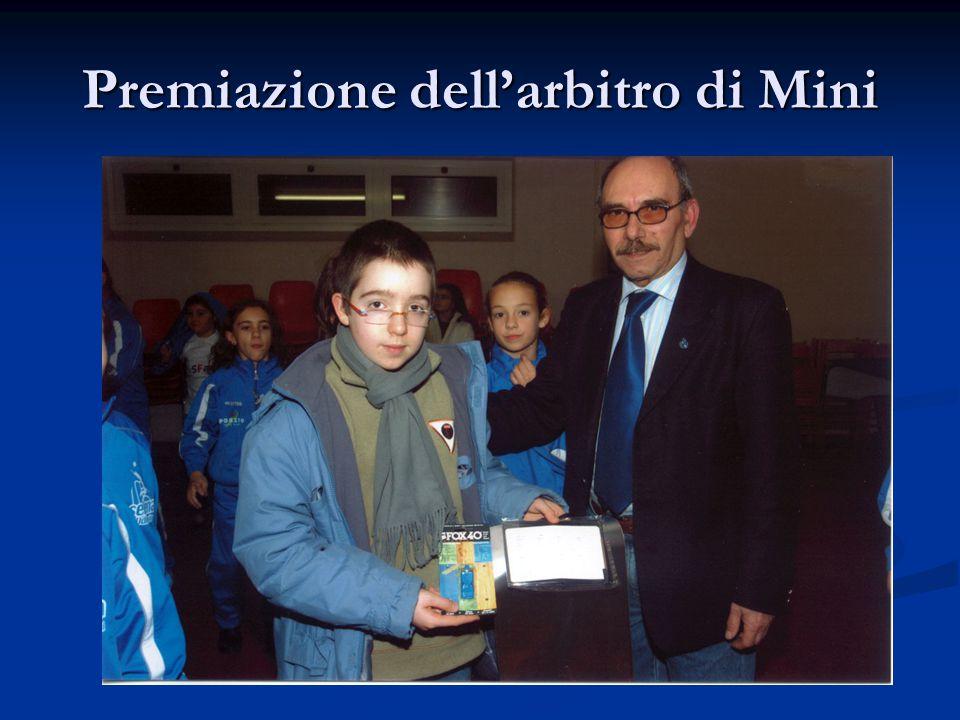 Premiazione dell'arbitro di Mini