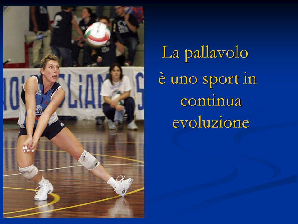 La pallavolo è uno sport in continua evoluzione è uno sport in continua evoluzione