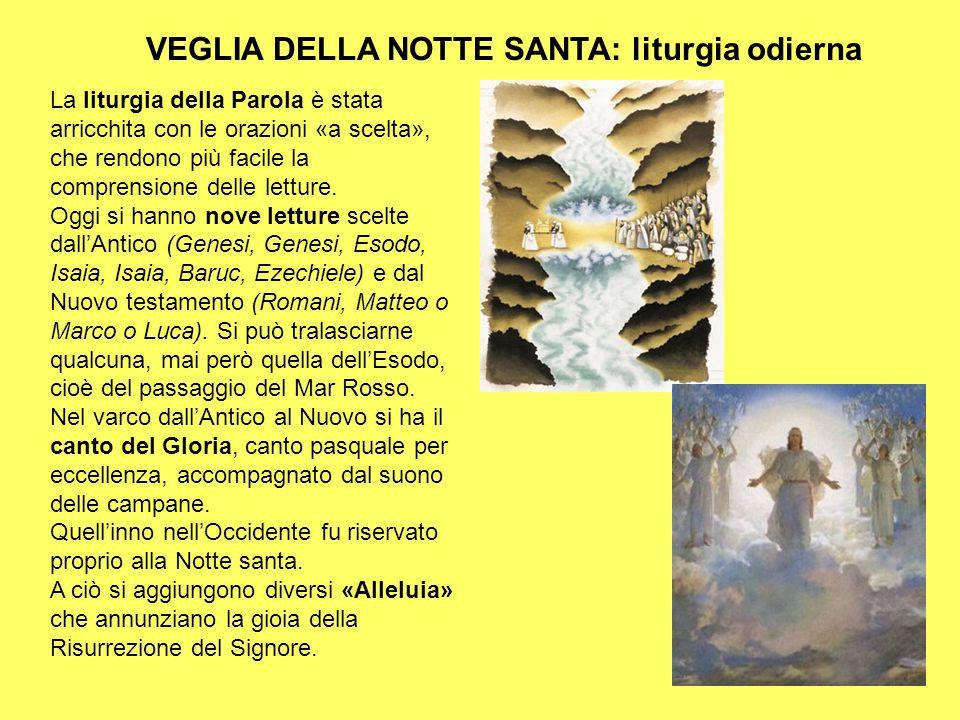 VEGLIA DELLA NOTTE SANTA: liturgia odierna La liturgia della Parola è stata arricchita con le orazioni «a scelta», che rendono più facile la comprensi