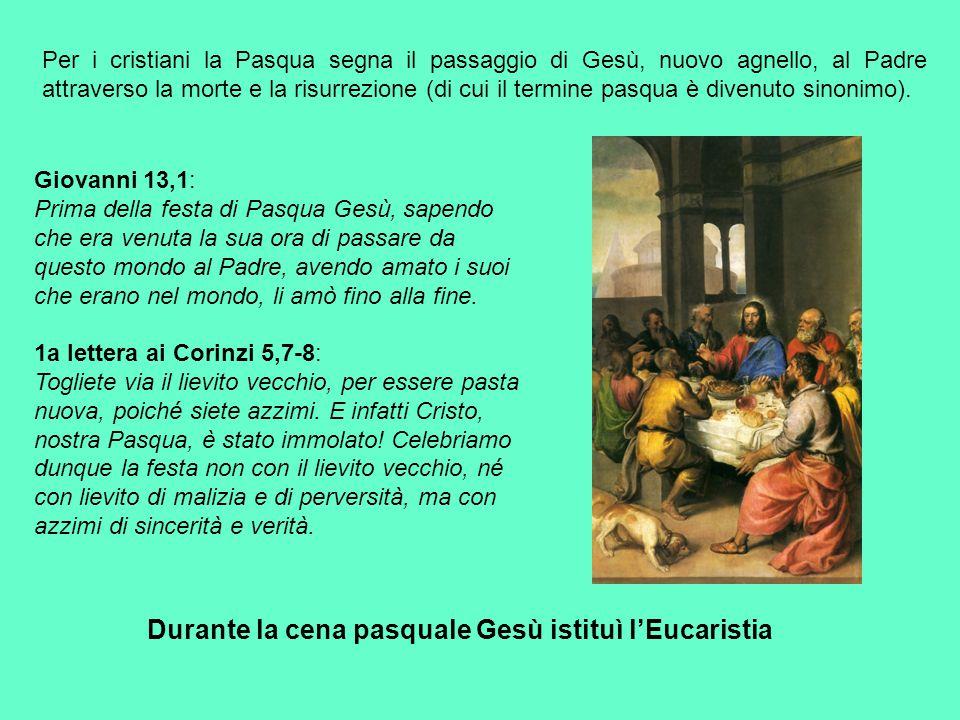 Venerdì Santo: IL DIGIUNO EUCARISTICO L'unico mistero dei tre giorni del Triduo culmina nella celebrazione della Veglia Pasquale, e in particolare nell'Eucaristia.
