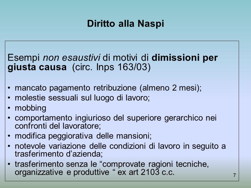 Naspi : contribuzione figurativa In caso di NASpI la contribuzione figurativa è rapportata a retribuzione imponibile degli ultimi 4 anni (RMR).