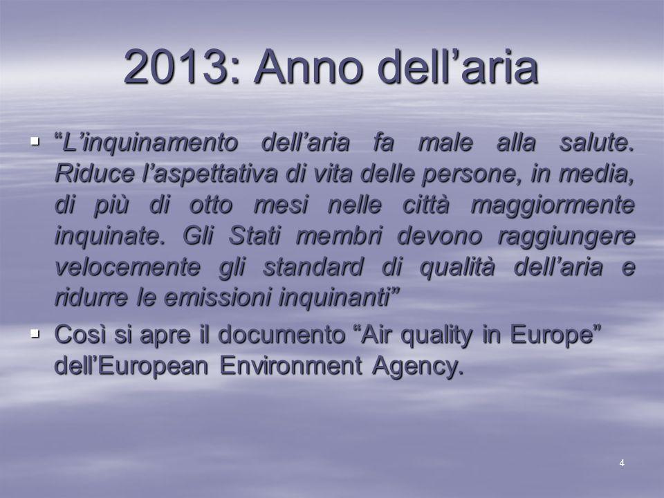  E' per questo che l'Unione Europea ha deciso di dichiarare il 2013 Anno dell'aria .
