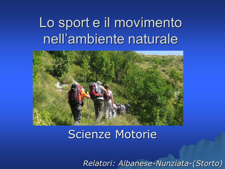 Lo sport e il movimento nell'ambiente naturale Scienze Motorie Relatori: Albanese-Nunziata-(Storto)