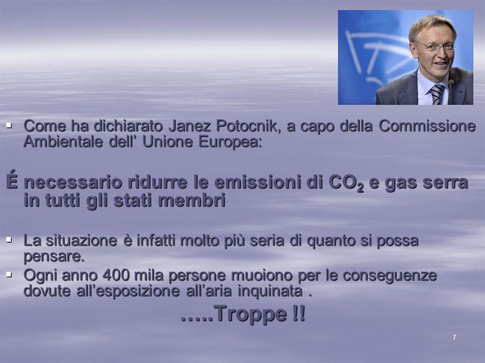  Le iniziative prese riguarderanno principalmente le nuove tecnologie volte a ridurre le emissioni nocive.