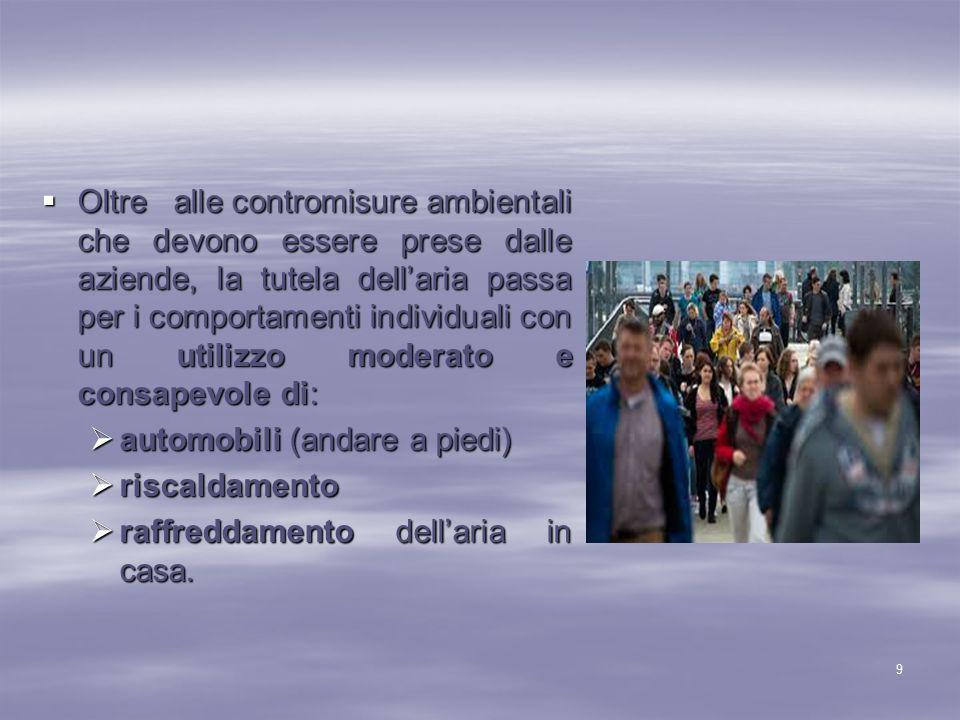 Articolo 9 Nell'articolo 9 della Costituzione Italiana, si fa riferimento alla tutela del paesaggio e non a una vera e propria difesa dell'ambiente, in quanto i Costituenti, al momento della stesura del testo costituzionale, non potevano pensare che l'ambiente dovesse essere oggetto di una particolare salvaguardia: all'epoca la natura era ancora ben conservata e il pianeta non temeva ancora di soffocare a causa dell'inquinamento.