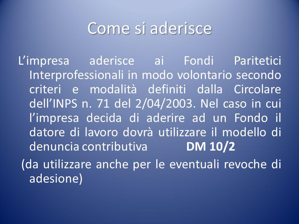 FONDIR Codice Adesione Settori Interessati Organizzazioni Promotrici FODI Fondo per i dirigenti del terziario.