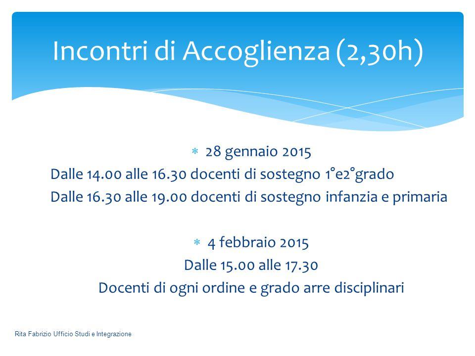  L'incontro sarà calendarizzato appena il MIUR emanerà la circolare relativa alle attività di formazione per i docenti neoassunti.