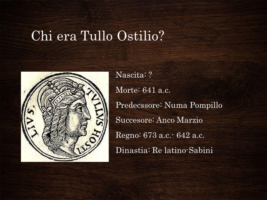 Chi era Tullo Ostilio.Nascita: . Morte: 641 a.c.
