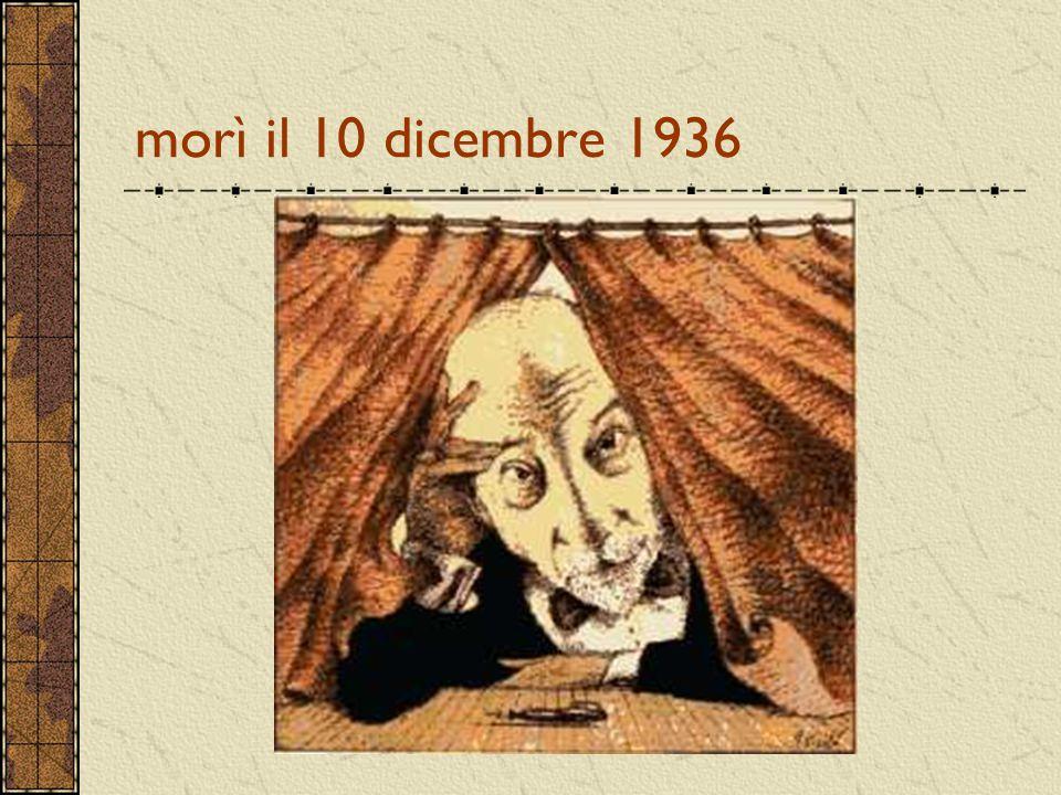 morì il 10 dicembre 1936