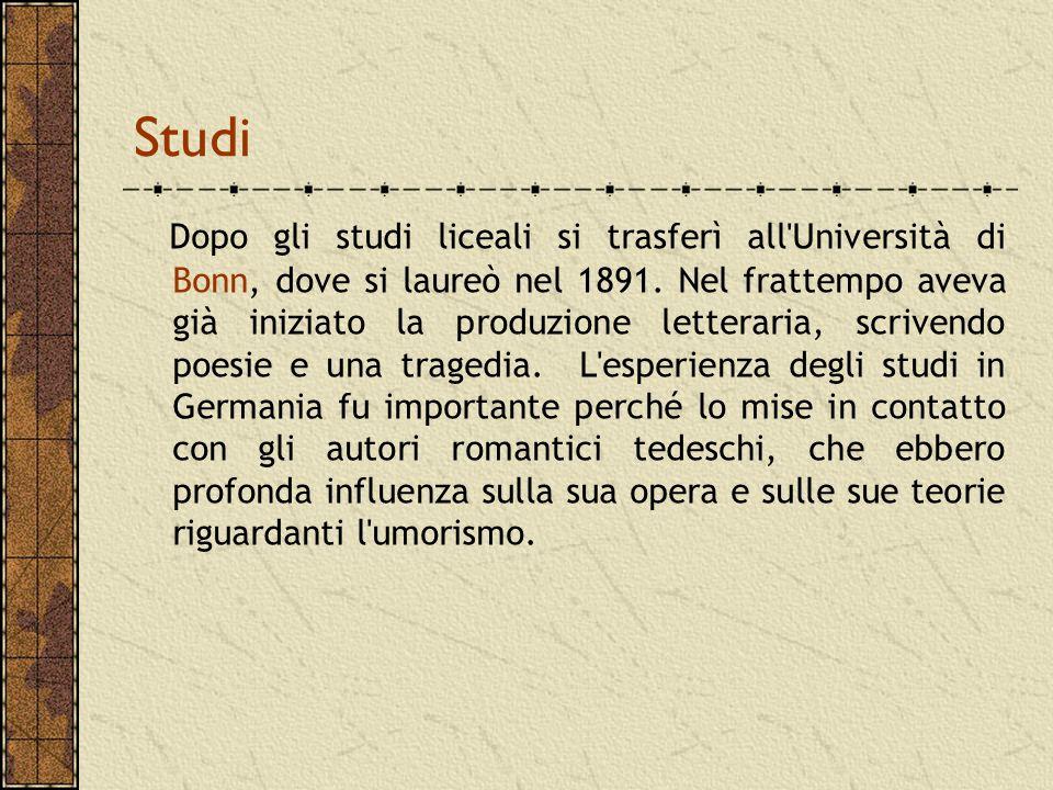 Il fu Mattia Pascal(1904) Il fu Mattia Pascal (1904) È il romanzo della svolta.